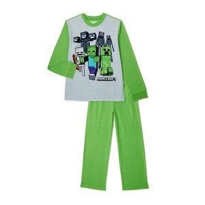 NWT Minecraft Boys Pajama Set Size 8